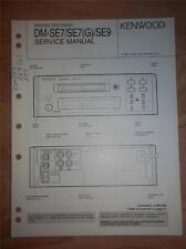 Kenwood Service Manual~DM-SE7(G)/SE9 Minidisc Recorder/Player~Original