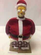 2004 Gemmy The Simpsons Talking Homer Simpson Santa Claus Stuck In A Chimney