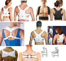Magnetic Therapy Posture Corrector Bad Back Support Lumbar Belt Shoulder Brace