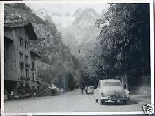 Italie . Italia . photo de 1955 . Courmayer et massif du Mont blanc