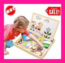 Educational Wooden Toys for 3 4 5 6 7 Girls Boys Kids Toddlers Magnetic Drawing