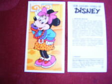 "VINTAGE BROOKE BOND PICTURE CARD ""THE MAGICAL WORLD OF DISNEY"" - 7 MINNIE MOUSE"