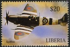 Royal Air Force (RAF) SPITFIRE D-Day Livery Aircraft Stamp (Liberia)