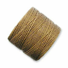TWO Beadsmith Superlon Bead Cord for Beading/Macrame MEDIUM BROWN = 154 yards!