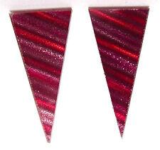DZ New York Ohrstecker original Hologramm USA spitz stripes pink punk 1980`s