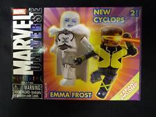 Marvel Universe MiniMates X-Men Series 9 Emma Frost Variant & New Cyclops Set .