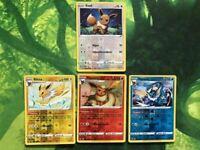Pokemon! Farbenschock Evoli Set Aquana Flamara Blitza Reverse Holo /185 NM