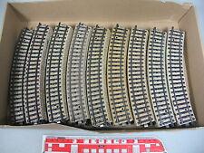 AI297-3# 42x Märklin H0 5100 Gleisstück/Schienen (M-Gleis, gebogen), gut