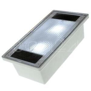Solar Pflasterstein Solarlampe Solarstein 10x20cm trittfest weisse LED