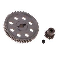 Ingranaggio in acciaio 64T Diff + Pignone motore 17T per 1/10 HSP 94111 RC