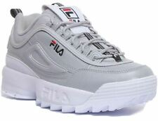 Fila Disruptor R Chunky Sole Lace Up Trainer In Grey Size Uk 6 - 12