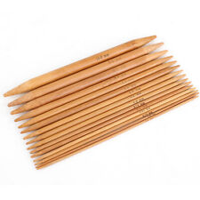 75Pcs 15 Sizes Bamboo Knitting Needles Set Carbonized Double Pointed Size 2-10mm