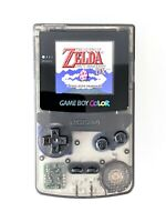Backlit Transparent Black Game Boy Color (GBC) with Backlight IPS v2