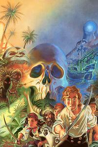 Secret of Monkey Island Retro Game Poster |4 Sizes| #3 PC Amiga Atari ST Mac Box