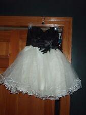 SPEECHLESS BLACK & WHITE JUNIOR SEQUIN & CHIFFON DRESS SZ 9