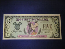 DISNEY DOLLARS  1999   UNCIRCULATED  $5 #A00396370A
