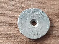 Unresearched European silver coin date 1911, as found uncleaned condition. L52n