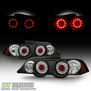 Black 02-04 Acura Rsx Dc5 Led Perform Tail Brake Lights Lamps Left+Right
