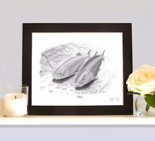 CHUB Fishing Art Print Picture Present For River Stick Float Angler Fisherman