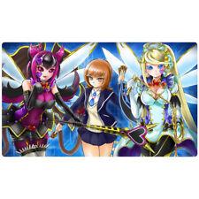 FREE SHIPPING Custom Yugioh Playmat Trickstar Holly Angel Black Catbat EN068