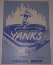 Oct. 29, 1950 Chicago Bears Vs. New York Yankees Unsigned Program