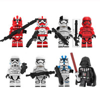 8 Pcs Minifigures Stormtrooper Darth Vader - Star War Custom Lego MOC