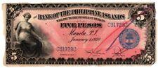 Philippines 1920 5 pesos Garcia-Sendres BPI