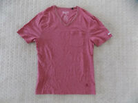 MENS SMALL PENGUIN MUNSINGWEAR POCKET V NECK TEE SHIRT T SHIRT TOP RED HEATHER