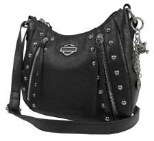 Harley-Davidson Women's Studded Rider Leather Crossbody Purse RD4927L-BLACK
