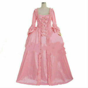 18th Century Marie Antoinette Colonial pink gown Dress Costume sack back gown:F