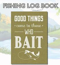 A5 Fishing Log Book, Fishing Diary, Fishing Journal, Anglers Log Book,  C4
