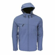 Reebok Men's Huron Softshell Hooded Jacket - Water & Wind Resistant - Blue - XL
