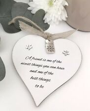 Friendship Heart Sign Plaque Gift Keepsake Birthday Christmas Wedding S50