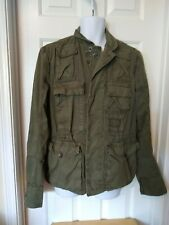 Vintage DIESEL ARMY GREEN MANS MILITARY COTTON FIELD SAFARI JACKET COAT~M