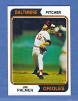 1974 Topps Jim Palmer Baltimore Orioles #40 GEM MINT QUALITY & Well Centered!
