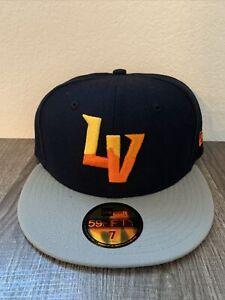 Las Vegas Aviators New Era 5950 On Field Fitted Hat Size 7 1/8 MILB NWT Blue