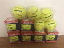 "Dudley 12"" Thunder Heat ASA Leather Slowpitch Softball (DZ)6 And 5 Demarini Nib"