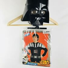 DARTH VADER Child's Costume Small/Medium Hoodie One Piece Halloween With Mask