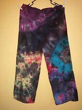 Plus size womens tye dye pants 14, 16, 18, 20 boho, gypsy, hippy custom