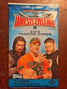 2016 Topps WWE Road to WrestleMania Factory Sealed Hobby Pack - 7 Cards