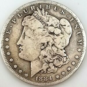 1884 S Morgan Silver Dollar! Only 3,200,000 minted! NO RESERVE!