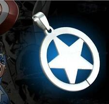 Marvel Super Hero Captain America tainless Steel Chain Pendant Necklace