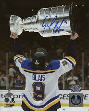 Sammy Blais St. Louis Blues Signed Autographed Stanley Cup Raise 8x10 B