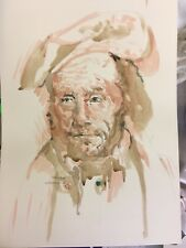Old Man.Original Painting,After Gericault. Romantic Master's Portraits of Insane