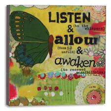 Kelly Rae Roberts LISTEN ALLOW New 2014 Wall Art Insp Faith Love 6X6