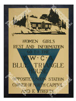 Historic WWI Recrutiment Poster Women go to the YWCA Postcard