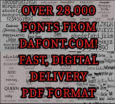 TYPE FONTS 23,000 FONTS FAST DIGITAL DELIVERY ONE DOWNLOAD!