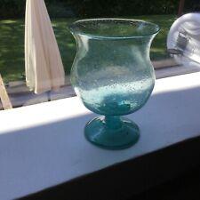 Aquamarine Blown Bowl On Stem