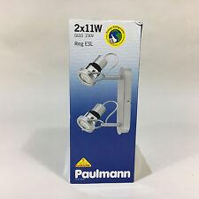 Paulmann Wandlampe Deckenlampe Spotleuchte RING ESL 2x11W GU10 665.35 66535