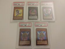 Dark Magician Girl and related Yugioh Cards, Japanese PSA 10 Set of 5